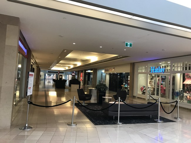 Closed store in the mall during COVID-19 lockdown