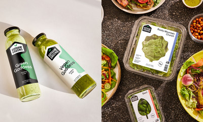 Gotham Greens grows and sells long-lasting, delicious leafy greens and herbs along with a line of fresh salad dressings and sauces. Gotham Greens recently launched its dressings at Whole Foods Market stores nationwide.