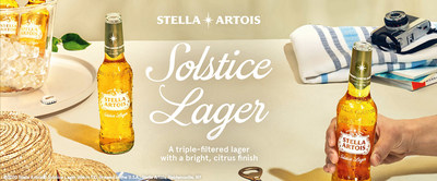 Stella Artois announces it's first-ever limited-edition golden lager brewed especially for savoring: Stella Artois® Solstice Lager. Available nationwide on June 8th, it's full-flavored, refreshing and perfect for the summer season.