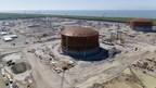 Calcasieu Pass da Venture Global anuncia elevamento bem-sucedido de segundo teto para tanque de armazenamento de GNL