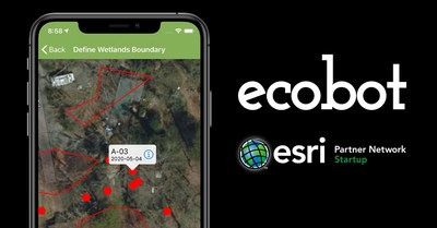 As a result of a partnership between Ecobot and Esri, geospatial modeling, mapping, georeferencing, and data collection capabilities are available within the Ecobot wetland delineation app.