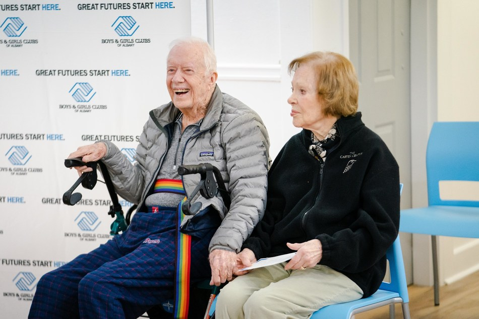 Former President Jimmy Carter and his wife Rosalynn are among seven new recipients of the Maytag Dependable Leader Award, an annual award program through a partnership between Boys & Girls Clubs of America and Maytag brand.