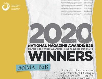 Lauréats des Prix du magazine canadien : B2B 2020 annoncés (Groupe CNW/Fondation des prix pour les médias canadiens)
