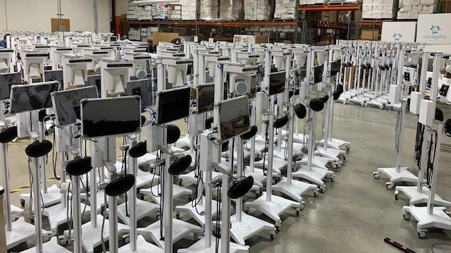 Caregility Ramps Up Production of Slimline Mobile Telehealth Carts