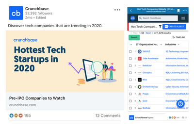 360VUZ Ranking #1 as Hottest Tech Startup in 2020 according to Crunchbase