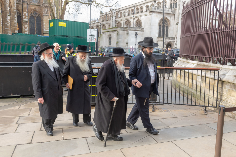Photo of the senior Rabbis beginning of 2019 @ UKParliament to discuss issues affecting the education of Orthodox Jewish Schools in UK