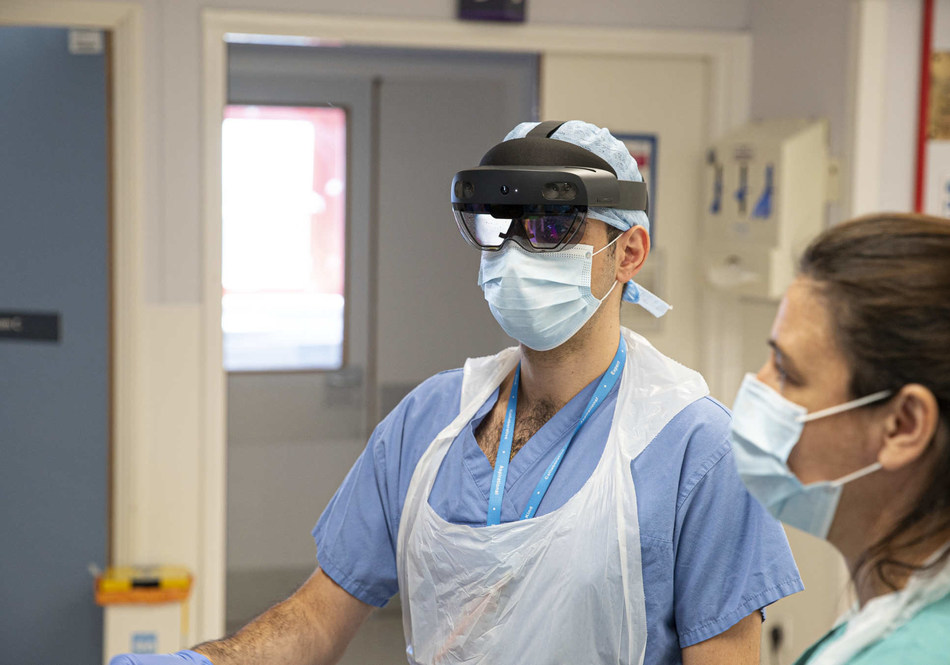 Figure 1 - Doctors wearing the Hololens Device. Source: Imperial.ac.uk (PRNewsfoto/IDTechEx)