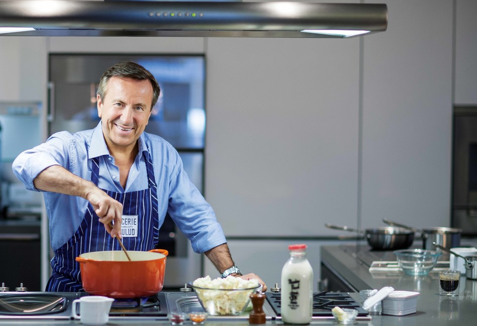 Chef Daniel Boulud in the kitchen.  Photo by Thomas Schauer.
