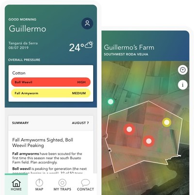 FMC Corporation's proprietary mobile platform is the first in the agriculture industry to deliver real-time data that predicts insect pressure one week in advance with more than 90 percent confidence for key insects to help growers protect yields.