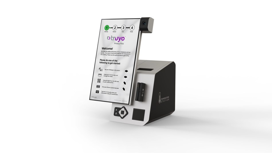 Janus, privacy-first self-check temperature kiosk, an enterprise-level hardened contactless solution for supporting companies in getting back to business