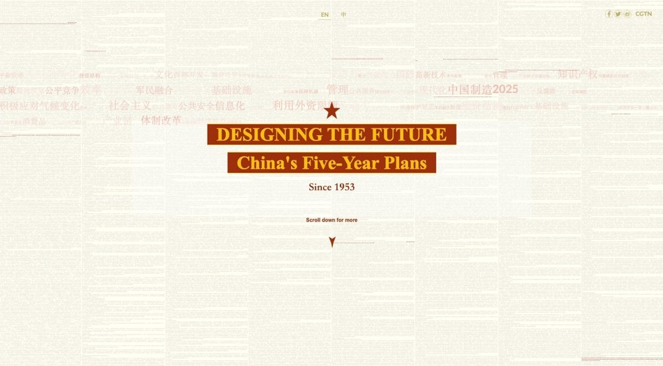 Diseñando el futuro: los planes quinquenales de China desde 1953 (PRNewsfoto/CGTN)