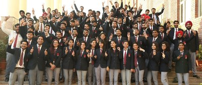 Placed students of Chandigarh University in a jubilant mood