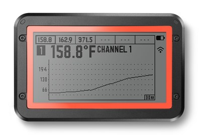 The large, multi-view graphing LCD screen is capable of showing data from all probe ports at once. New side buttons allow users to toggle displays on the unit. The case is weather resistant and provides greater durability for outdoor use.