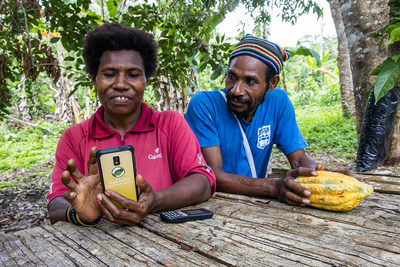 Sorowosa and male farmer