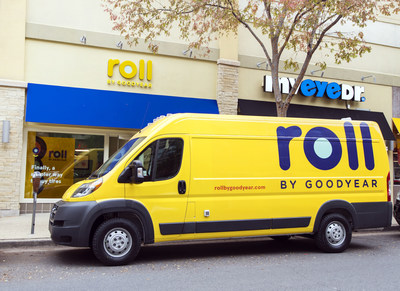 A Roll by Goodyear mobile installation van.