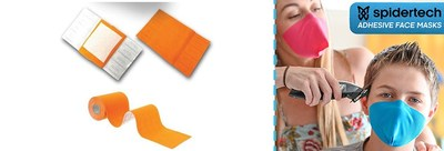 Made in Canada, strapless DIY masks by SpiderTech (CNW Group/SpiderTech)