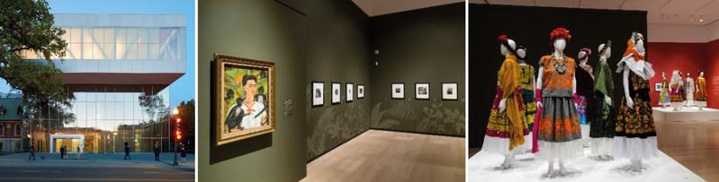 De gauche à droite : Crédits : © Bruce Damonte // Salles de l'exposition Frida Kalho, Diego Rivera et le modernisme mexicain. La collection Jacques et Natasha Gelman. Photos : MNBAQ, Idra Labrie (Groupe CNW/Musée national des beaux-arts du Québec)