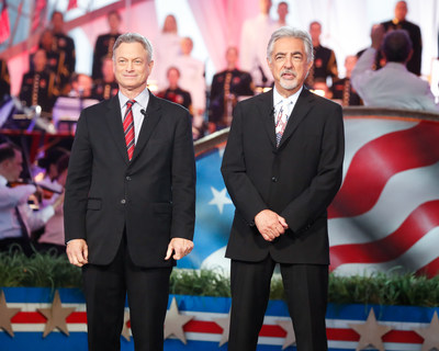 "Gary Sinise (left) and Joe Mantegna (right) co-host a special presentation of the ""National Memorial Day Concert"" on PBS, Sunday, May 24, 2020 from 8:00 to 9:30 p.m. ET. (PRNewsfoto/Capital Concerts)"