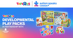 Toys R Us Canada in partnership with Autism Speaks Canada is proud to launch play packs, designed to encourage developmental milestones for children with autism