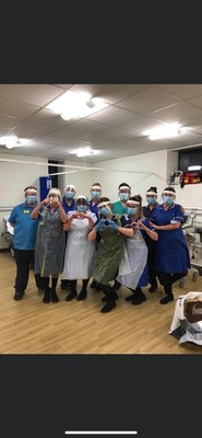Intercare Nurses say thanks for new PPE