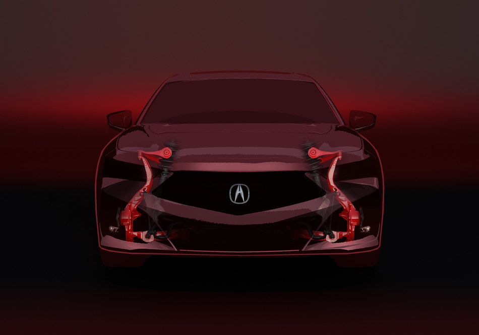 2021 Acura TLX Built on Dedicated Sport Sedan Architecture with Double Wishbone Front Suspension