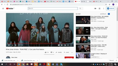 "N'we Jinan Artists - ""RUN FREE"" - Cat Lake First Nation (CNW Group/GlaxoSmithKline Inc.)"