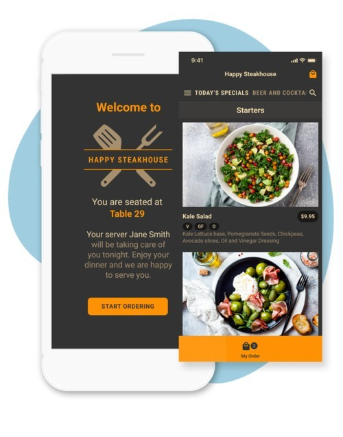 With applications for restaurants, hotels, hospitals, educational institutions, live events - everywhere menus are provided - On Premise Ordering limits contacts between guests, wait-staff and the kitchen, allowing customers to use their mobile device to engage with digitally enabled, dynamic menus that send orders directly to the kitchen or wait staff.