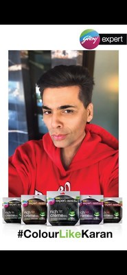 Godrej Expert Rich Crème, India's largest selling crème hair colour from the house of Godrej Consumer Products Limited, partnered with the Bollywood personality Karan Johar for an interesting transformation