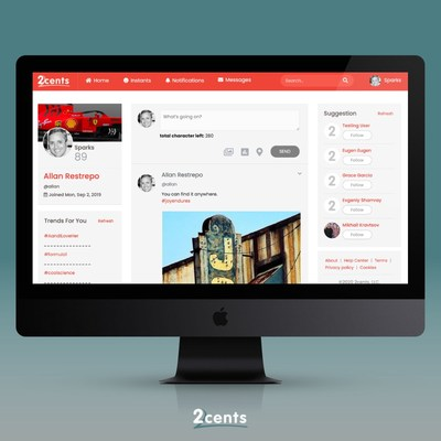 2cents' protection encompasses its users' information, communication and individual privacy.
