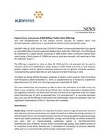Keyera Corp. Announces $400 Million Public Note Offering (CNW Group/Keyera Corp.)