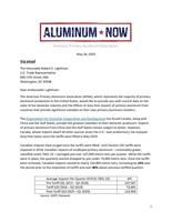 APAA Calls on Ambassador Lighthizer to Restore Tariffs on Surging Canadian Aluminum Imports