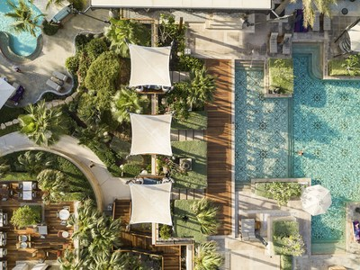 Jumeirah-Al-Naseem Adults Pool Aerial Drone