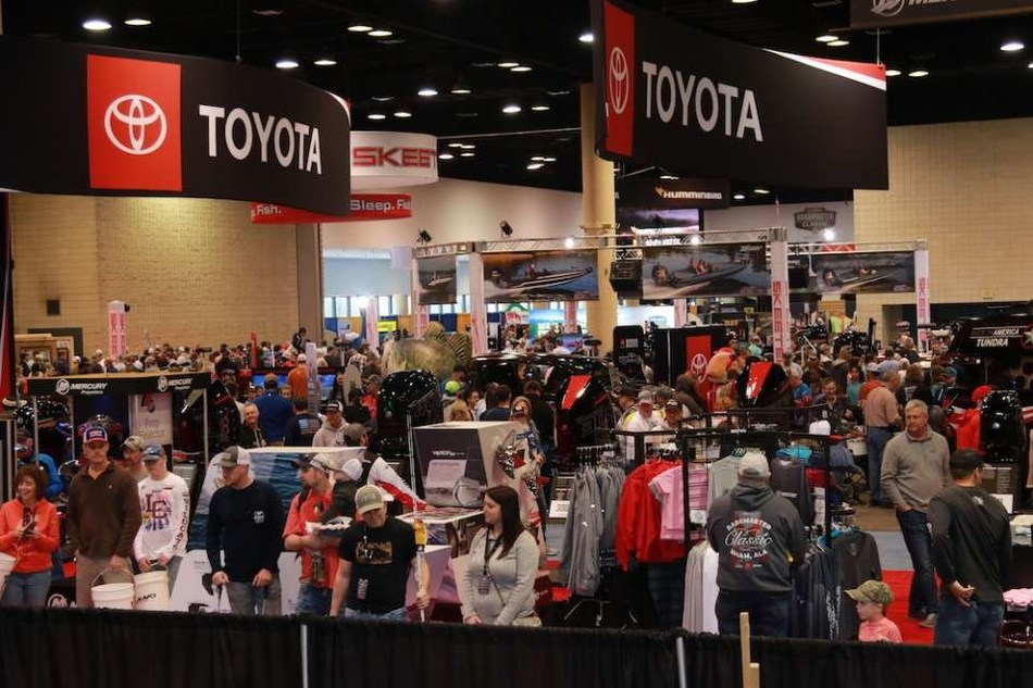 Fans turned out in force for the Bassmaster Classic Outdoors Expo.