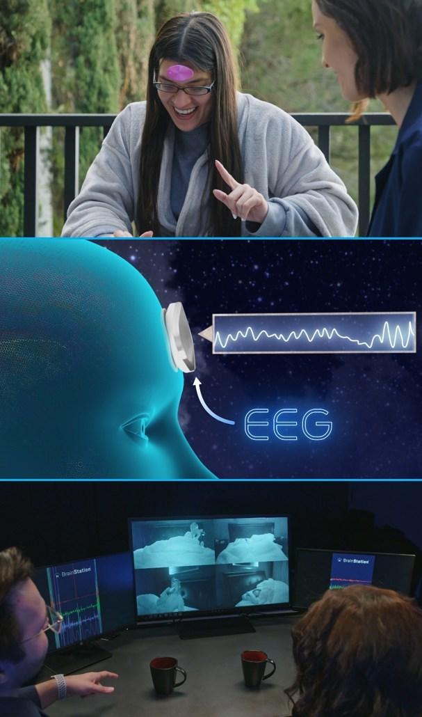 Neuroverse® BrainStation® sleep monitoring. Images courtesy of BrainCraft.