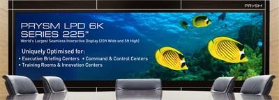溥美推出225英寸LPD全球最大的无缝交互式显示屏