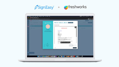 Send offer letters, NDAs and onboarding documents to candidates and new employees directly from Freshworks' HRIS - Freshteam. Provide a truly digital experience to your new hires and close the talent gap faster with SignEasy's new integration with Freshteam.