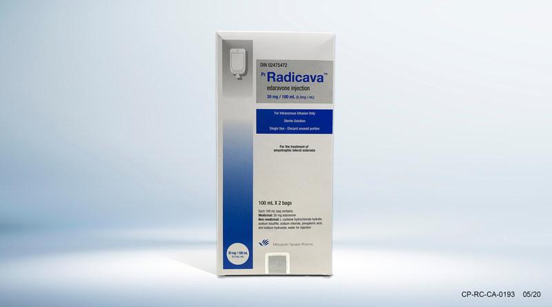 RADICAVA Boîte de Produit (Groupe CNW/Mitsubishi Tanabe Pharma Canada, Inc.)
