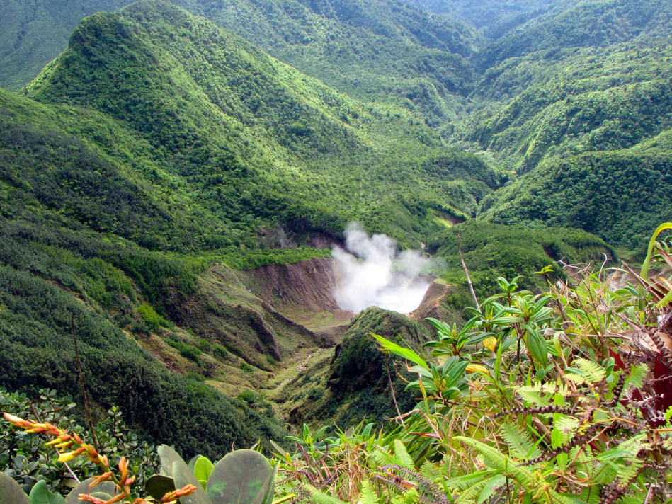 The Boiling Lake in Dominica, one of the many natural wonders of the island. Visit www.cbiu.gov.dm to find out how to obtain citizenship by investment and support Dominica's journey to climate resilience (PRNewsfoto/CS Global Partners)