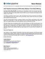 Medium Term Note Offering (CNW Group/Inter Pipeline Ltd.)