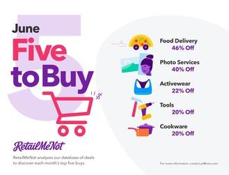 Five things to buy in June according to RetailMeNot
