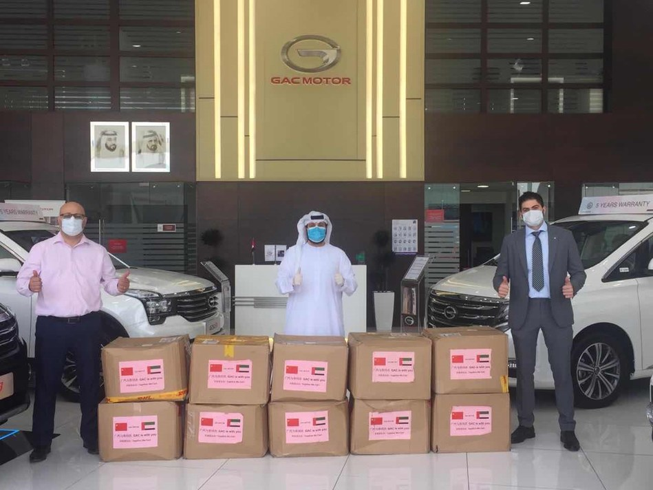 GAC masks arrive at dealer shops in UAE. (PRNewsfoto/GAC MOTOR)