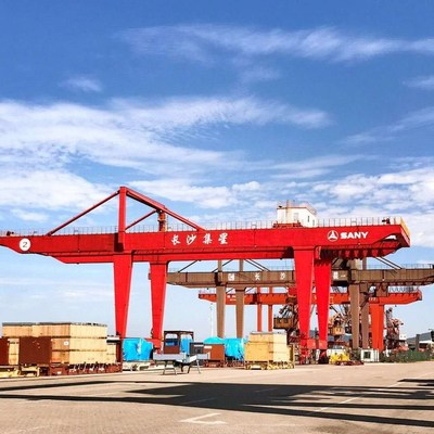 Xianing port area in Changsha new port