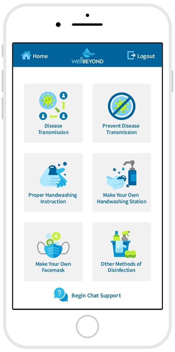 Training App Home Screen