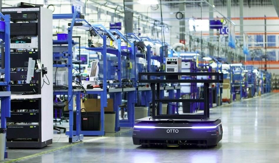 The OTTO 1500 autonomous mobile robot can carry more than 3,300 pounds.