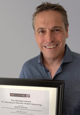 CBC News: The Fifth Estate's Mark Kelley and his team won the main 2019 Mindset Award for Workplace Mental Health Reporting. (CNW Group/Canadian Journalism Forum on Violence and Trauma)