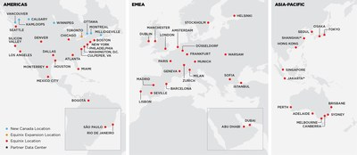Global Reach of Platform Equinix with Expanded Canadian Operations