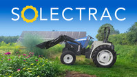 Quiet zero emission power in the field - The eUtility tractor can be charged from renewable energy or the electrical grid. (PRNewsfoto/Solectrac, Inc.)