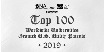 Top 100 Worldwide Universities Granted U.S. Utility Patents in 2019 Announced