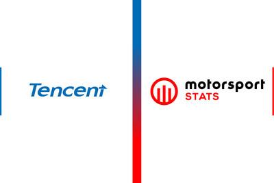 Tencent and Motorsport Stats Logos (PRNewsfoto/Motorsport Network)