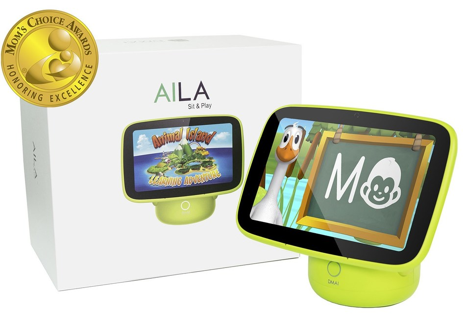 AILA Sit & Play, an intelligent monitor and edutainment system for toddlers, is available nationwide on DMAI's website, Amazon, Bed Bath & Beyond and buybuyBaby.
